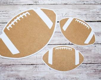 Football Die Cuts, Football Scrapbook, High School Die Cut, High School Scrapbook, Sports Die Cut, Team Sport Scrapbook, Handmade Die Cut