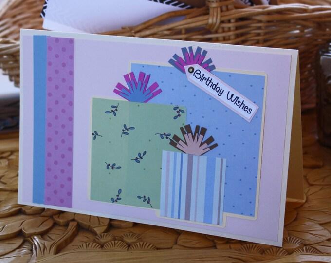 Girls Birthday Card, Birthday Presents Card, Colorful Kids Birthday Card