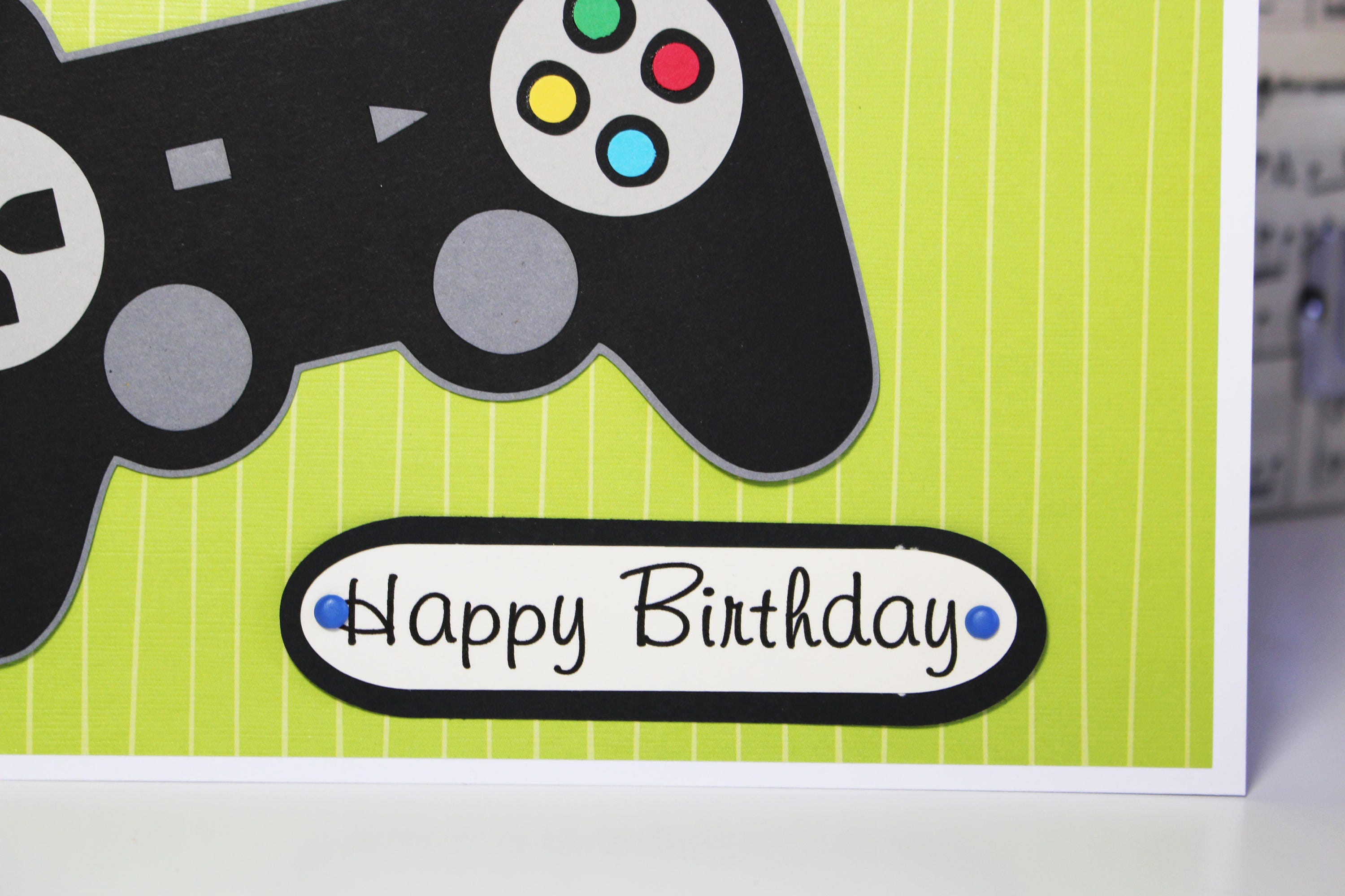 Gamer Birthday Card Kid Gallery Photo