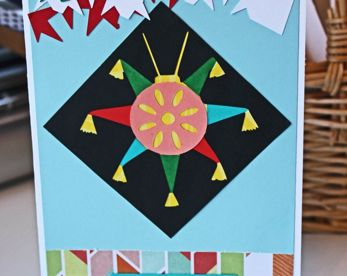 Feliz Cumpleanos Pinata Birthday Card - Handmade, Handcrafted, Pinata Birthday Card, Birthday Greeting