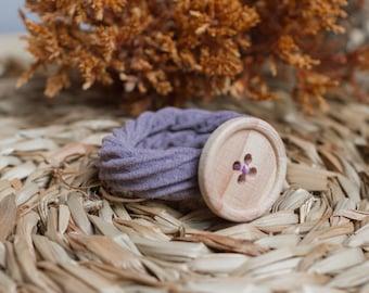 Coletero button - Purple Grey