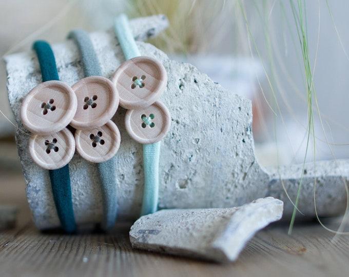 Featured listing image: Pack 3 button headbands - Savina