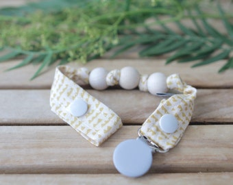 Chupetero-Wooden Baby Teether | Mustard