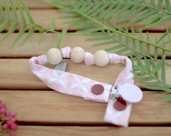 Chupetero-Wooden Baby Teether   Rosa Astre