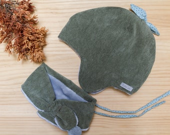Adjustable Scarf Pack & Gorrito Green forest
