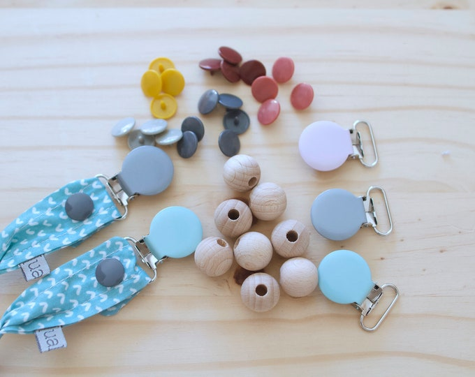 Featured listing image: Pack of 2 Chupeteros & Teether | Choose colors