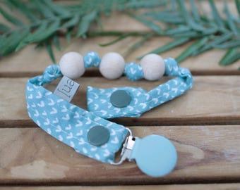 Chupetero-Wooden Baby Teether | River water