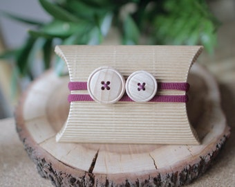 Button-purple Headband
