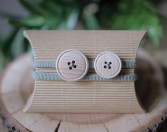 Button Headband-olivgreen
