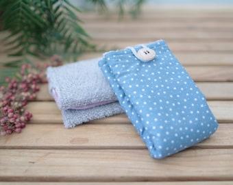 Cotton Wipe | Sky Blue & Stars