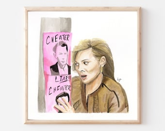 Samantha Jones- Original Ink/Watercolor Art Print- Sex and the City Art Print- SATC Art- NYC- Iconic TV Art- Pop Culture Art