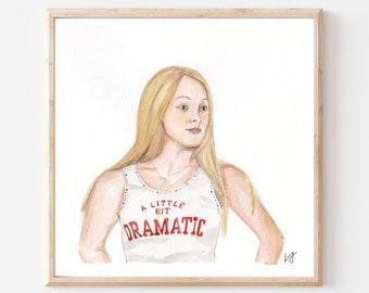 Regina George- Original Ink/Watercolor Art Print- Mean Girls Art Print- Movie Scene Art- Iconic Movie Scenes- Rachel McAdams- Early 2000s