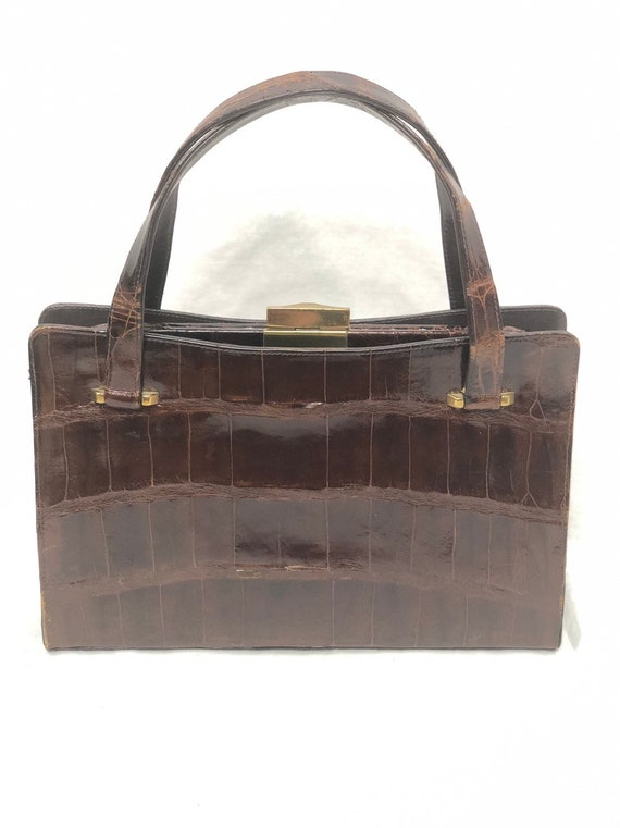 Vintage Bags By Lisa Brown Alligator Crocodile Han