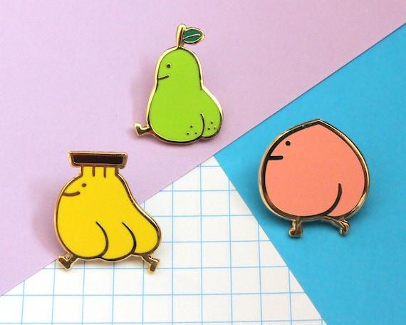 Fruity Booty Enamel Pins