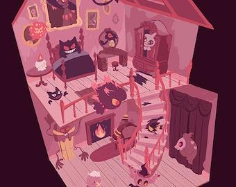 ghost manor pkmn print