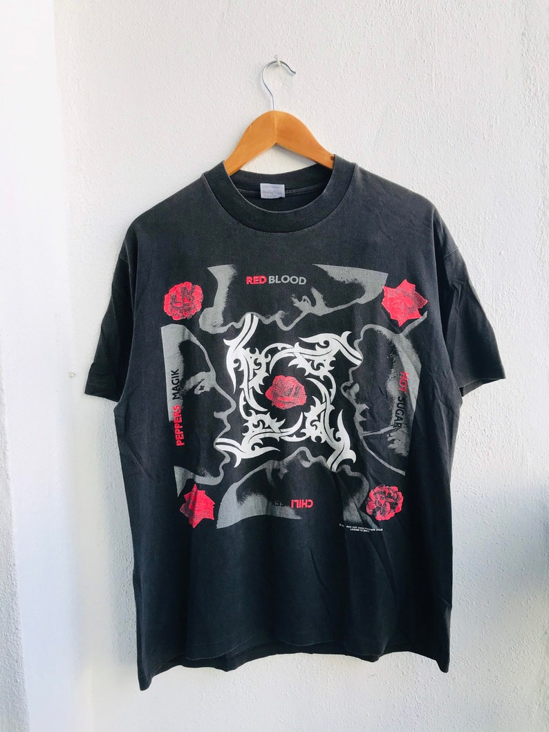 Blood Sugar Sex Magic 1992 Funk Rock Band T-Shirt Vintage Red Hot Chili Peppers Grab It !