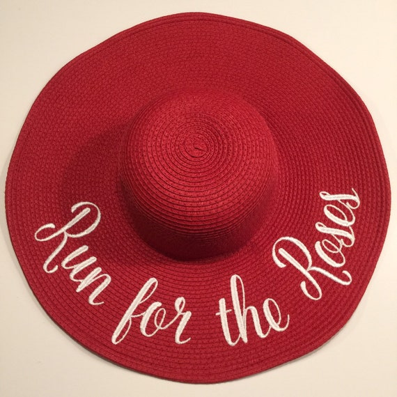 52a3342b Embroidered Floppy Hat with Custom Sayings Wide Brim Beach   Etsy