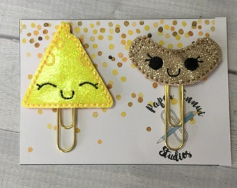 Macaroni and cheese planner clip paper clip