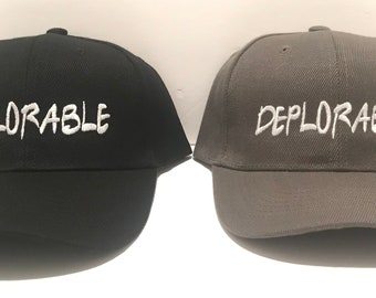 d157b03bd11 Deplorable - President Donald Trump - High Quality Hat   Ball Cap - POTUS 45