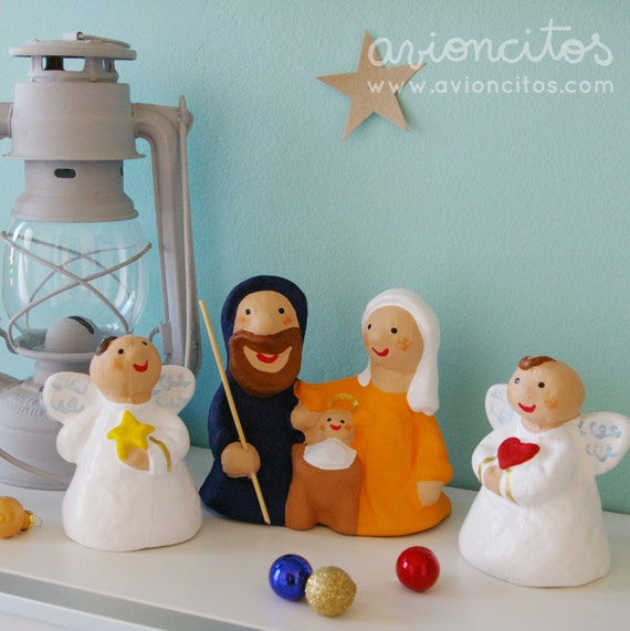 Set 3 pieces Bethlehem and Angels