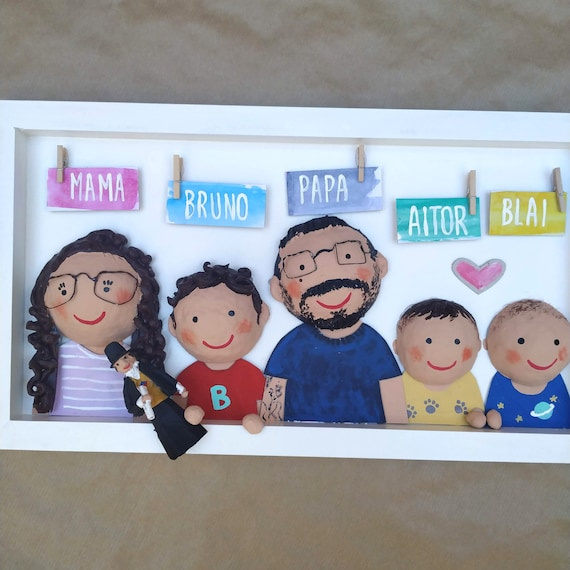 Personalized Family Box 5 Members