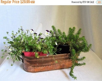 Rustic Log Planter Etsy