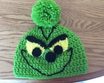 98969463f58 Crochet grinch hat