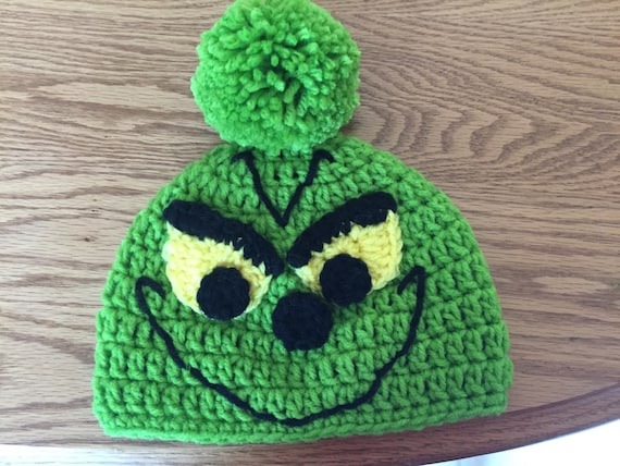 Grinch Beanie Size Newborn to Toddler.  8b5a30710b6