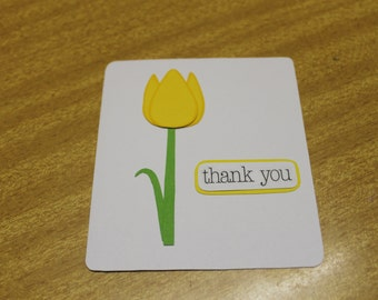 Yellow Tulip - Thank you card