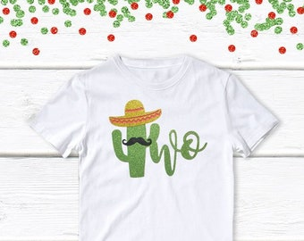 1 pc taco twosday 100/% COTTON short sleeve t-shirt for second birthday toddler boy girl fiesta Mexican party theme taco bout a party