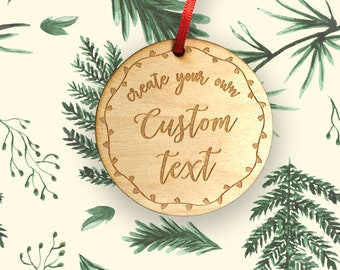 Designs 9-16 Personalized Hardwood Ornaments