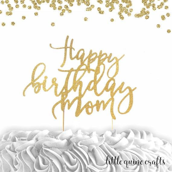 Buon Compleanno Mamma Glitter.Articoli Simili A 1 Pc Buon Compleanno Mamma Glitter Argento Oro