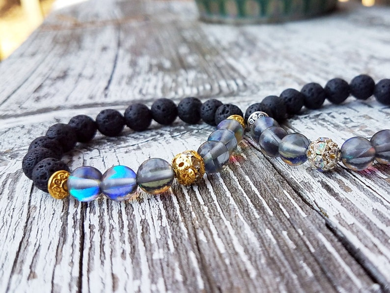 Glass Jewelry Cute Gifts For Girlfriend Lava Bead Lava Rock image 0