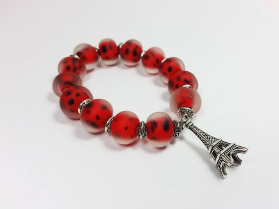 Ladybug Jewelry Childrens Jewellery Red Bracelet Paris