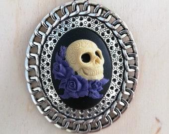 Día de los Muertos Sugar Skull Halskette