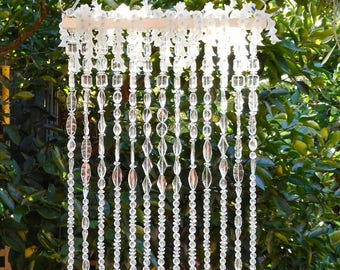 Suncatcher, Crystal Hanging, Patio Decor,garden Suncatcher, White Flowers,  Outdoor Living