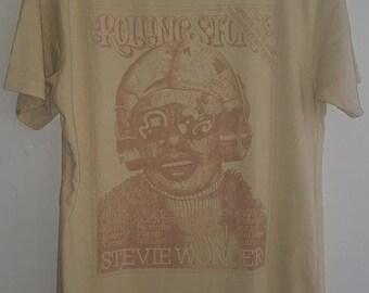 Stevie Wonder Rolling Stone Magazine Issue #189 Cover T-Shirt