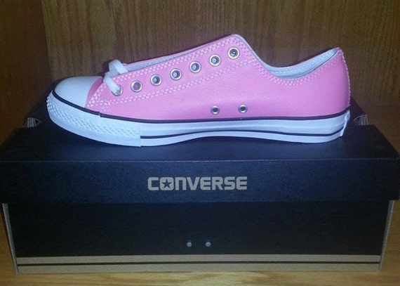 f3d8ed91655 Men s Custom Pink Leather Converse Chuck Taylor Shoes