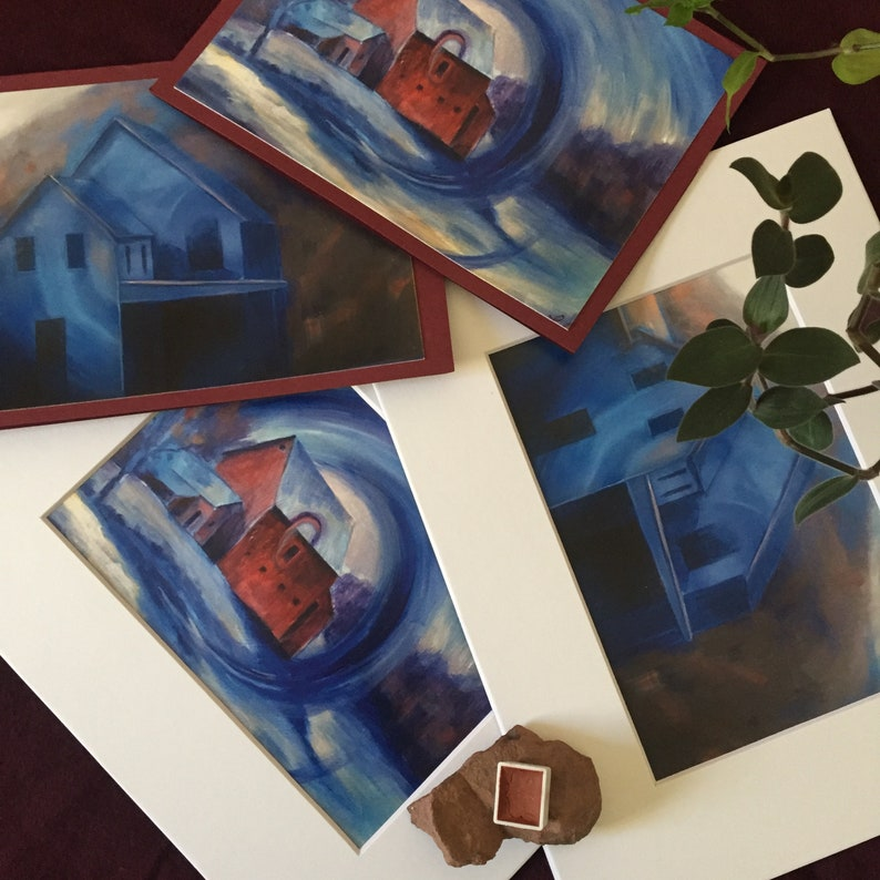 Blue Winter Prints /& Cards Package