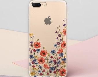 Flowers iPhone 7 iPhone 8 Case Floral Case 7 Plus iPhone S6 Case Galaxy iPhone Phone 6s Plus iPhone 8 Case iPhone SE Case S8 Case CG1586