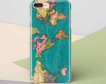 World Map Phone Case iPhone X Case for Samsung S8 iPhone 8 Case Phone Cover iPhone 6s Case Samsung Galaxy S7 Edge Samsung Galaxy S6 CG1231