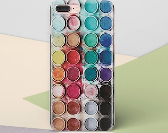 Watercolor iPhone 6S Plus iPhone 8 Case Phone Case iPhone 7 Plus Paint Note 8 Case iPhone X Case Samsung Galaxy S8 Case Phone Cover CG1227