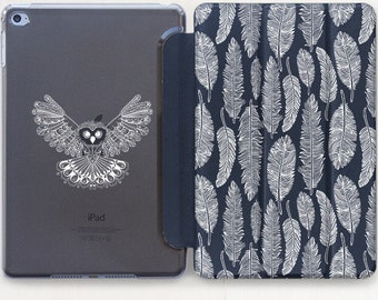 Owl iPad Mini 2 Feather iPad 3 case iPad Air 2 Case Cover iPad 2 Cover iPad 6 Case iPad 4 Cover iPad Mini 3 Case iPad Mini Cover CG4111