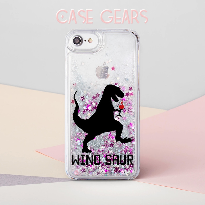 detailed look 11244 51acc Glitter iPhone 8 Plus Case iPhone 6 Plus Case Dinosaur iPhone 8 Case Dino  Pink Liquid Glitter iPhone 7 Plus Case iPhone SE Case CG1706