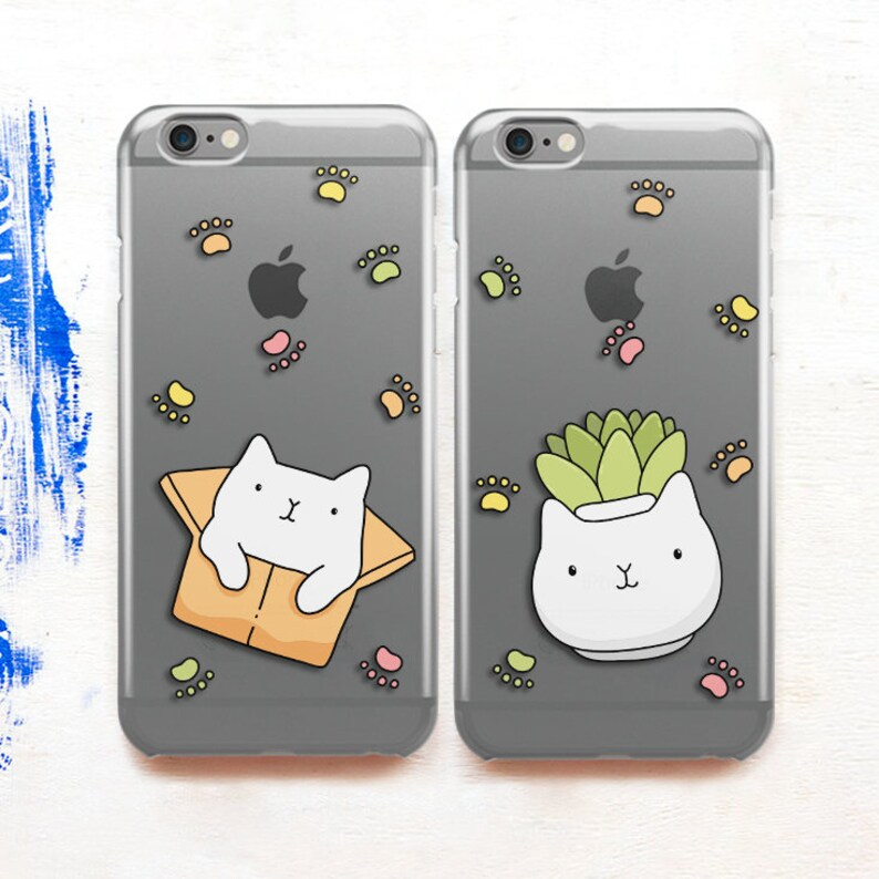 new arrival 52249 b5c63 Cats Best Friends Couple Case iPhone 6s Case Couple Bff Gift iPhone Case  Set Cute Case Funny Case Phone Case Samsung Galaxy S8 Case CG6032