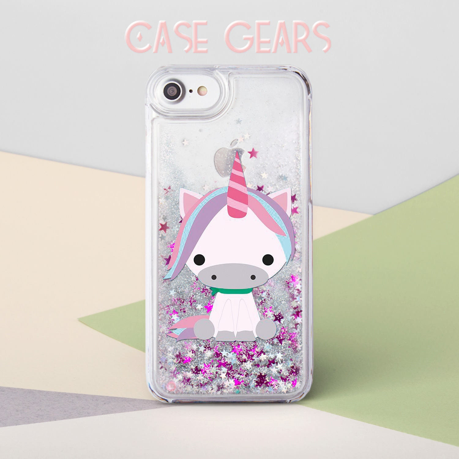 new product 1a146 ce6c0 Unicorn Glitter iPhone 8 Case iPhone 8 Plus Case Pony iPhone 7 Case Cute  Pink Liquid Glitter iPhone 7 Plus Case iPhone 6 Case CG6008