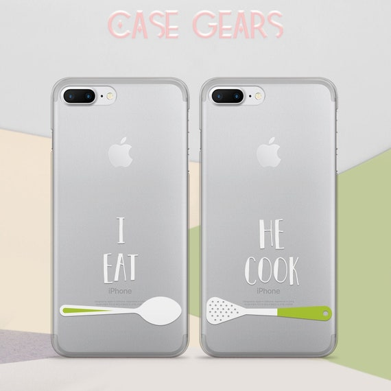 Couple Iphone X Case Matching Iphone 7 Plus Cover Best Friends Etsy