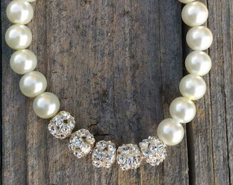 8MM Glass Pearl Stretch Bracelet for Her