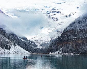 Lake Louise, Winter Photography, Digital Download, Winter Print, Winter Photo, Landscape Photo, Fine Art Photography, Mountain Photo