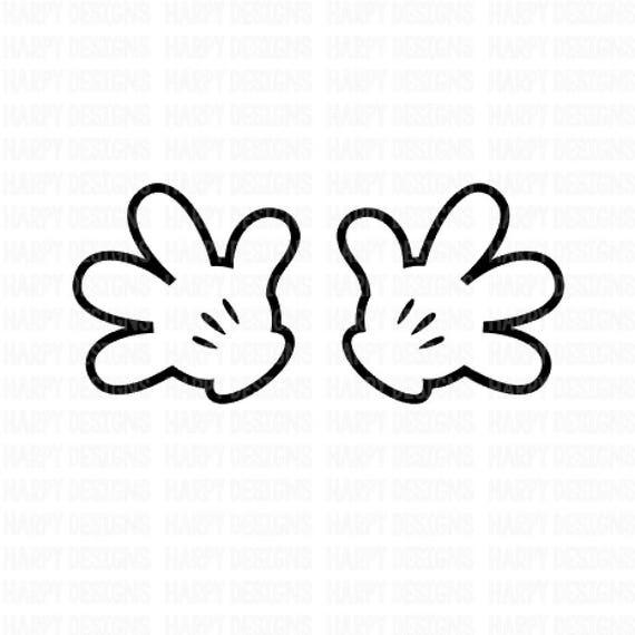 Mickey Mouse Hands Svg Minnie Mouse Hands Svg Cricut Cut